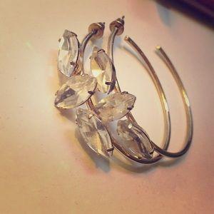 Jeweled hoop earrings